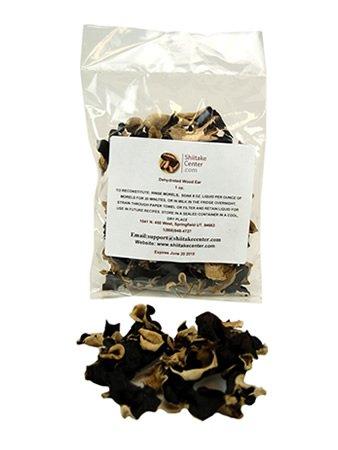 Dried Wood Ear Mushrooms - 1 Oz. Bag - Dehydrated Edible Gourmet Auricularia Polytricha Fungi - Also Called Woodear, Tree Ear or Cloud Ear