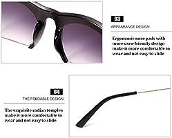 tocoss (TM) marca medio borde gafas de marco de gafas de sol ...