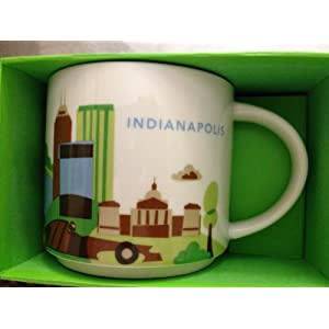 Starbucks Indianapolis Coffee Mug You Are Here Collection 14 Oz Cup