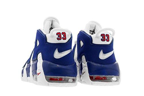 Nike Air Uptempo GS Big Kids Basketballschuhe Weiß / Tief Royalblau Weiß / tiefes Königsblau