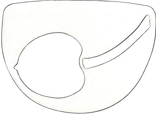 Kirschbaum Heavy Duty Plastic Stencil for Tennis Racket String, Frosted
