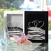 Hot Seller *Love Collection* Personalized Sand Ceremony Shadow Box Set - 3 Designs Available ('Two Hearts', White)