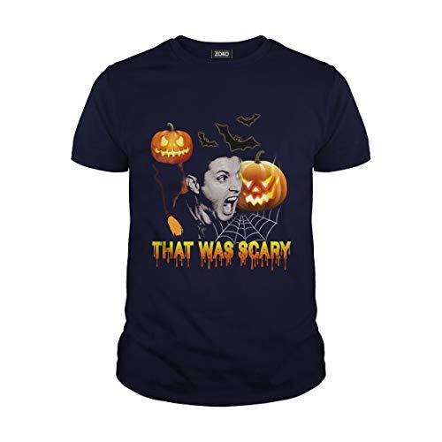 Men's That was Scary Pumpkins Halloween T-Shirt (S, Navy) -
