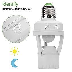 EEEKit E27 Infrared PIR Motion Sensor LED Light Lamp Bulb Holder Socket Switch 110/220V