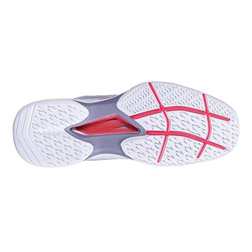 Zapatillas De Tenis Babolat Mujeres Jet Mach Ii All Court Blanco / Fluo Rosa / Plata