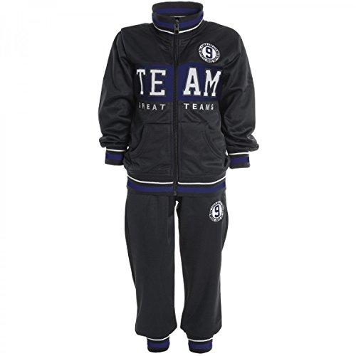Kinder Jogginganzug Junge Hoodie Pullover Kapuzenpullover Hose Sportanzug 20510, Farbe:Grau;Größe:104
