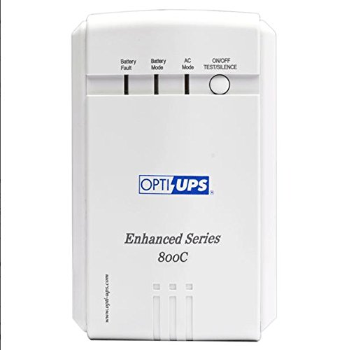 OPTI-UPS ES800C Enhanced Series 6-Outlet Line Interactive Uninterruptible Power Supply (480W, 800VA)