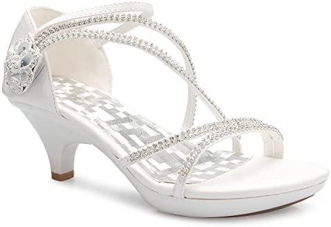 Olivia K Women's Open Toe Strappy Rhinestone Dress Sandal