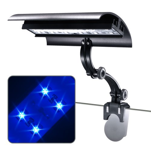 Wave-point 3-Watt Micro Sun Super Blue LED Clamp on Light,