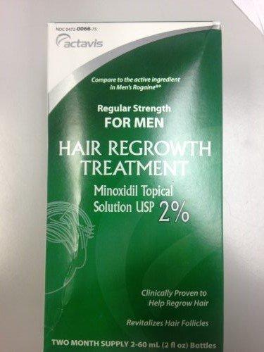 Hommes Minoxidil 2% Force régulière cheveux Solution Traitement repousse, 2 Pack - 60 bouteilles ml