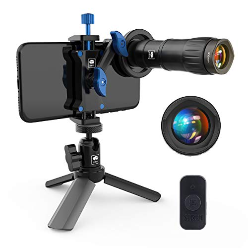 SIRUI Lens for Phones Upgraded Version Anamorphic Cinema,Wide Angle,Telephoto,Micro, Fisheye,Portrait Lens Auxiliary Camera Attachment Lens with Clip Adapter (Telephoto)
