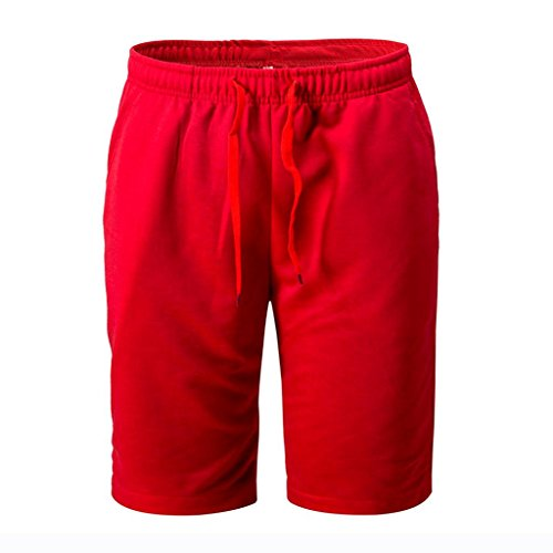PASATO New!Summer Men's Shorts Sports Work Casual Classic Fit Short Pants (Red, - Bermuda Plaid Shorts Madras