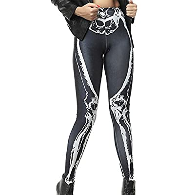 Women Leggings Seamless Tights Digital Printing Stretchy Footless Sexy Stockings