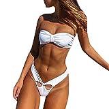 TnaIolral Women Swimwear Beachwear Push up Swimsuit Bathing Suit One Piece Set Bikini White