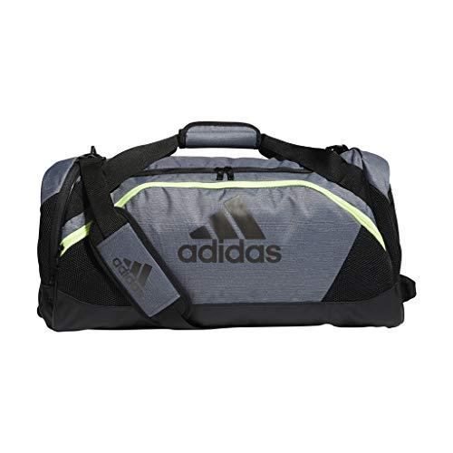 (adidas Team Issue Medium Duffel Bag, Grey Two Tone/Black/Hi - Res Yellow, One Size)