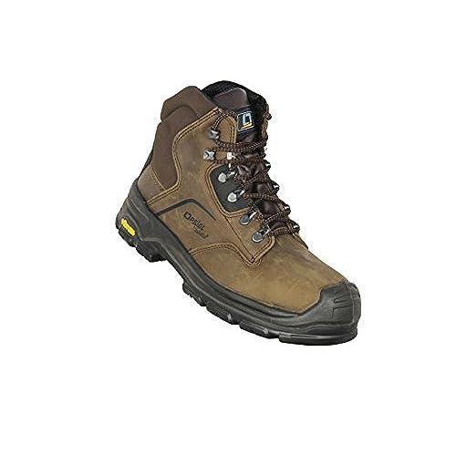 Jallatte - Calzado de protección de Piel para hombre, color Negro, talla 36 EU