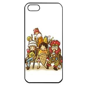 One Piece popular Anime Manga Cartoon Monkey D. Luffy Trafalgar Law Comic iPhone 5 Soft Black or White case (Black)