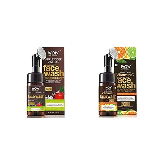WOW Skin Science Apple Cider Vinegar Foaming No Parabens, Sulphate & Silicones Skin Science Brightening Vitamin C