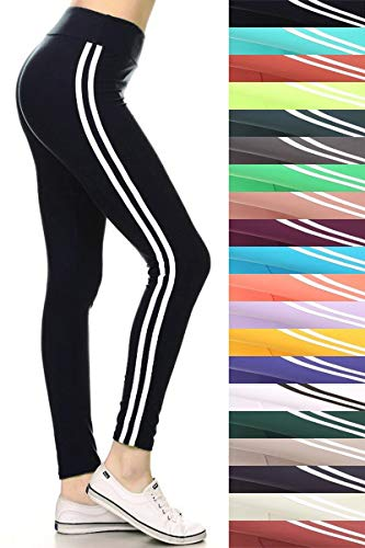 LIIR128-BLACK2 Double Lined Yoga Leggings, One Size