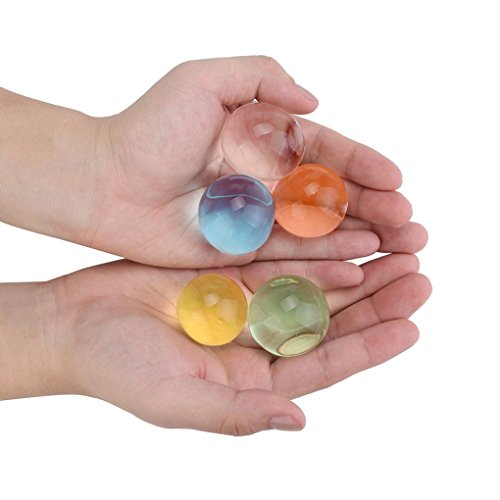 Gbell 200Pcs/500Pcs Crystal Water Beads,Multicolor Soils Flower Mud Grow Magic Large Jelly Ball Gel DIY Decor,Kids Sensory Toys Growing Water Balls (200Pcs) ()