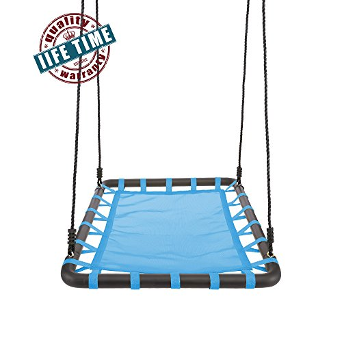 "Nice Ancheer Large Platform Tree Swing with Nylon Rope, Outdoor Web Swing Sets 40"" x 30"" for Multiple Children supplier"