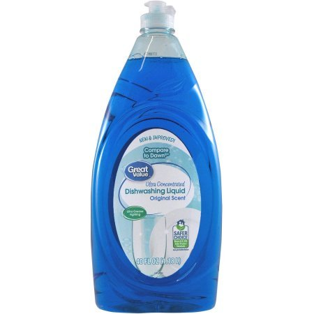 Great Value Ultra Concentrated Original Scent Dishwashing Liquid, 40 fl oz by Great Value