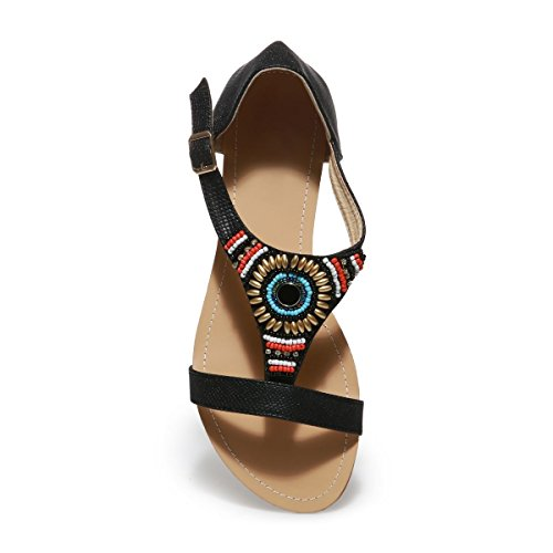Negro Modeuse Vestir Para Mujer La Sandalias De Yx1Uqw