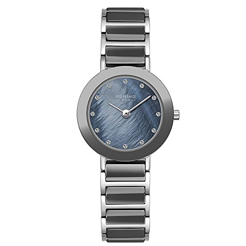 BERING Time 11429-789 Womens Ceramic Collection Watch with Stainless steel Band and scratch resistant sapphire crystal. Designed in Denmark.