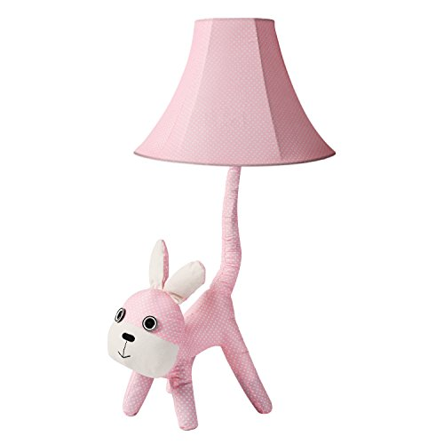 Kids Table Lamp - Stuffed Animal Lamp for Bedroom, Vodche LED Nursery Lamp | Imagination Inspiring, Rabbit (Lamp Shade Standard Girl)