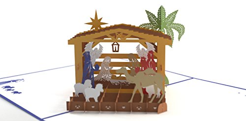 Card Nativity Christmas Scene (Lovepop Nativity Pop Up Card, 3D Card, Christmas Card, Holiday Card)