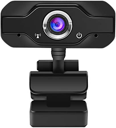 1080P Webcam with Microphone for Zoom, Teams Meetings, Teaching and Gaming, Plug and Play, USB 2.0 Webcam for Laptop, Desktop Mac, 45g Superlight, Black