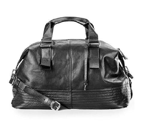セレブレザー ブランド ゴートスキンレザー 山羊革ヤギ皮 バッグ デカボストン 洗い加工 ボストンバッグ 鞄 黒ブラック メンズ MENS ワイルド   B00KPTYKCU