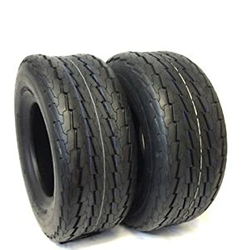 SET OF 2 Deestone Hiway Speed Tubeless Trailer Service Tires 20.5x8.0-10, 20.5x8.00-10 Load Range D 8 Ply Rated