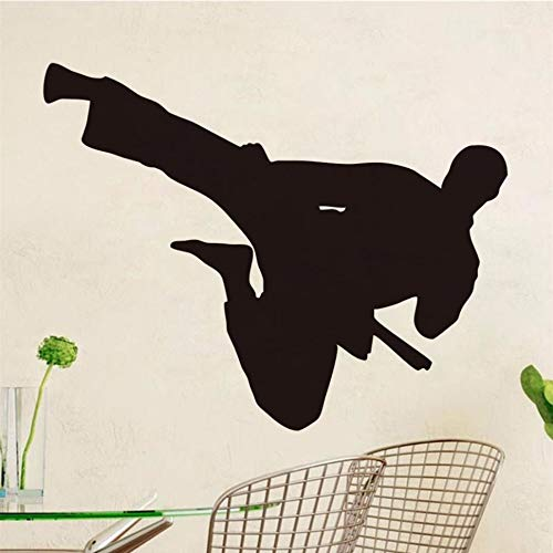LLHLLH Flying Kick Kung Fu China Wall Stickers PVC Children Bedroom Decorative Removable Wall Decals Transfer Decal Room Stencil Mural 44X35CM