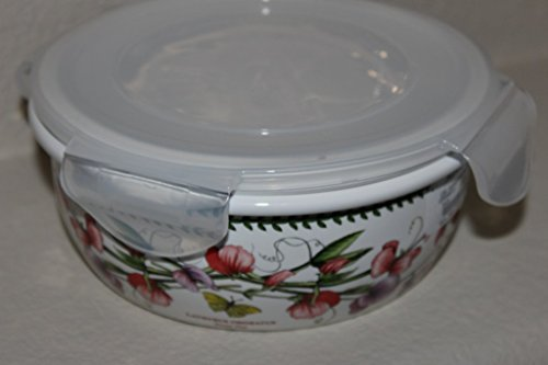 Portmeirion Botanic Garden Storage - Portmeirion Botanic Garden Round Ceramic Storage Jar with Lock Lid, 5.75 Inch