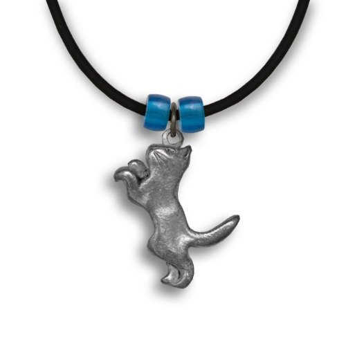 Pewter Playful Cat Necklace by The Magic ()