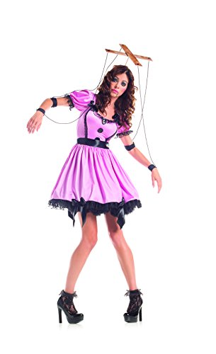 Sock Puppet Halloween Costume (Party King Women's Marionette Costume Dress Set, Pink,)