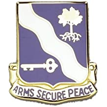 143rd Infantry TX ARNG Unit Crest (Arms Secure Peace)