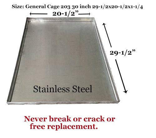 Metal Replacement Tray for Dog Crate - Heavy Duty - Chewproof - Kennel Replacement Pan - Chew Proof & Crack Proof Pet Kennel Tray - Replacement Pan for Midwest Central Metal Crates - Dog Cage Tray - General Cage Replacement