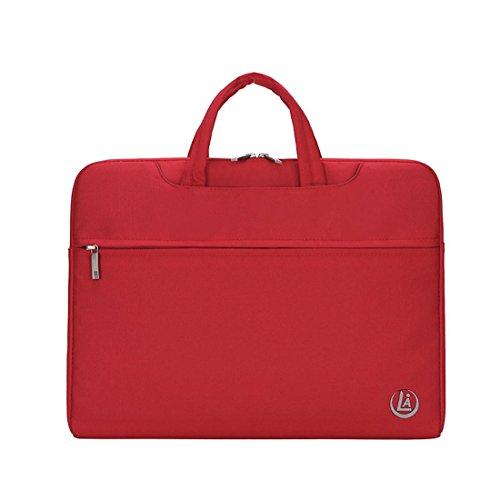 Wasserdichte Stoff Laptop Tasche Farbe Notebook Tasche tragbare Computer Tasche Liner Tasche 13.3 / 14/15 Zoll , red , 13 inches