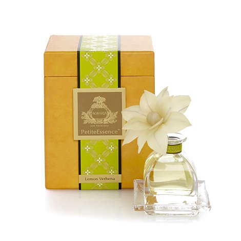 AGRARIA PetiteEssence Luxury Fragrance Diffuser Lemon Verbena Scent, Includes 1 Sola Flowers and 7 Reeds