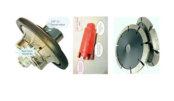 """B10 3//8/"""" Half Bullnose Router Core Drill Bit 1 3//8/"""" Granite Concrete Coarse Cup"""