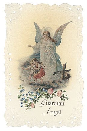 Guardian Angel Holy Card (Guardian Angel Vintage Replica holy)