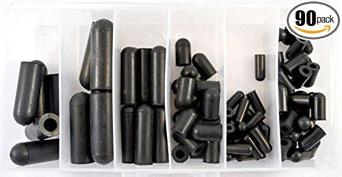 A Plus Parts House 9//32 Diameter Black Rubber Vacuum Caps 50pc