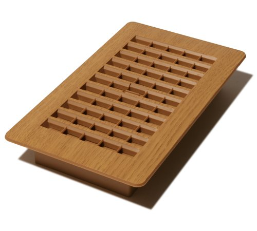 Decor Grates PL408-OC 4-Inch by 8-Inch Plastic Floor Register, Oak (Caramel Floor)