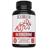 Zhou Nutrition Berberine with Oregon Grape for Fat Metabolism & Ketone Synthesis, 60Count