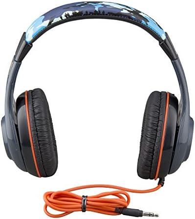 Jurassic World 2 Kids Headphones, Adjustable Headband, Stereo Sound, 3.5Mm Jack, Wired Headphones for Kids, Tangle-Free, Volume Control, Childrens Headphones Over Ear for School Home, Travel 41EP 2BBx6g5L