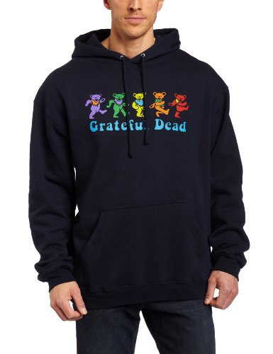 Liquid Blue Men's GD Dancing Bear Fleece Hoodie, Navy Blue, XX-Large
