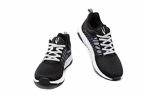 Scarpe Da Uomo Onemix In Mesh Traspirante, Sneaker Leggere Nero / Bianco