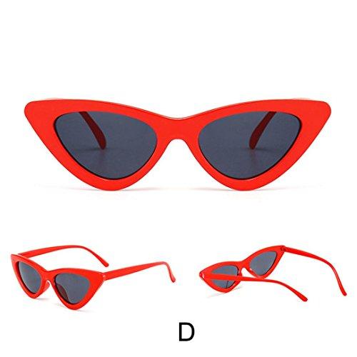MOKAO Polarized Sunglasses Fashion Cat Eye Shades Sunglasses Integrated UV Candy Colored Glasses - Bans Ray Store Online